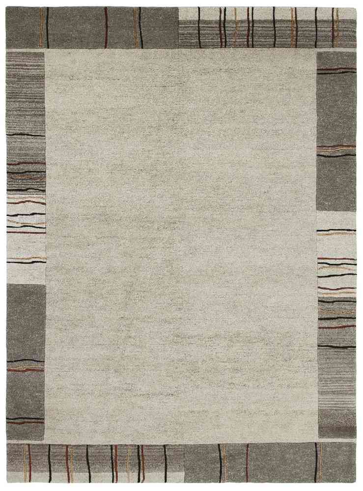 Nepal Teppich Handgeknupft Natur Grau Marke Luxor Living Teppich